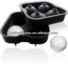 de silicona en forma de bola de hielo bandeja