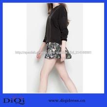 2014 caliente de la venta de impresión floral mini falda corta