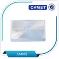 venta caliente de aumento de plástico tarjeta de tarjeta de crédito lupa