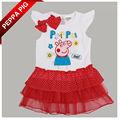 Baby 7515 peppa porco roupa nova moda roupas infantis cartoon impressão girls' vestidos de verão