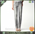Talle alto mujeres occidentales de servicios OEM de diseño destructor de mezclilla imágenes de jeans para mujeres