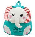 baby lienzo la forma de elefante schoolbag bolsa de hombro