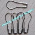 de artículos de mercería etiqueta de la prenda 22mm de metal de plata de la perla pasador de seguridad