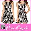 china 2014 nuevo de cintura alta oficina señoras vestido de impresión de patrón geométrico más el tamaño de ropa las mujeres