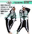 Nuevo estilo Anime Kigurumi Pijama de Halloween Skeleton Skull Cosplay traje adulto Pijama con capucha Party Dress Pelele