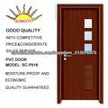 Nuevo producto interior MDF diseño de madera puerta PVC SC-P016