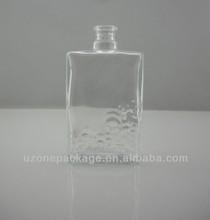 2013 nueva botella de vidrio en relieve beaufiful para el perfume