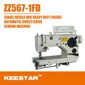 Keestar zz567-1fd industrial mid- heavy duty zigzag máquina de coser