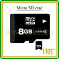 plena capacidad 8gb tarjeta de memoria con adaptador de libre