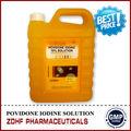 antiséptica desinfectante de yodo povidona solución 10 para equipo veterinario