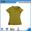 camisa de polo de poliéster barato para mujer