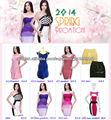 2014 primavera precio al por mayor de la promoción del vestido del vendaje, vestido del precio barato para el partido / la boda