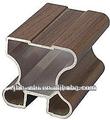 grano de madera perfil de aluminio para ventanas para closet