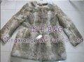 BG6048 Piel de conejo auténtica Ropa Mujer OEM al por menor al por mayor de ropa de la piel del conejo