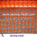 quadrados de malha de rede de plástico
