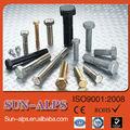 galvanizado de alta qualidade de aço de carbono padrão de tipos de parafuso processo de fabricação