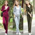 mangas largas coreano de ocio de moda traje para la ropa de deporte