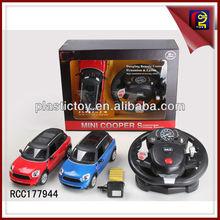 Con licencia 1:14 mini cooper del coche del rc del juguete con el volante rcc177944