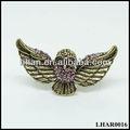 2013 Popular cobre antiguo Búho Dos anillo de dedo del diseño