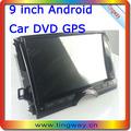audio para vehiculos/9 pulgadas android carputer/coche reproductor de dvd/estéreo del coche con gps