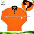 2013 de invierno nueva costumbre algodón de la llegada hizo manga larga de la camisa de polo de color naranja