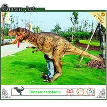 la bbc caminando para adultos con traje de dinosaurio