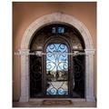 forjado puerta de entrada de hierro con tansom