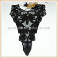 Collar de algodón/100% de algodón bordado de encaje solubles en cuello/modif del cuello para el uso de prendas de vestir