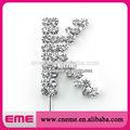 """Nova carta de"""" k"""" de casamento de cristal do rhinestone bling monogram cake topper"""