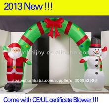 al aire libre de decoración de navidad inflable puenteenarco