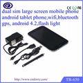 Gsm cdma sim dual de teléfono inteligente android 6.5 pulgadas con sim dual y bluetooth