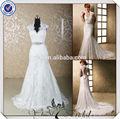jj3645irlandés de encaje de cuello alto de sirena sexy espalda abierta vestidos de novia nuevos modelos