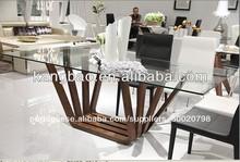 2013 novo design pequeno de vidro mesas de jantar mesa de jantar no reino unido