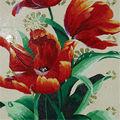Hyb-smc el sudeste de asia el patrón de mosaico flor 3d de hielo mural de mosaico de jade