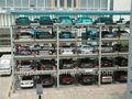 estacionamiento del coche mecánico