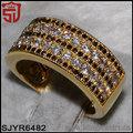 venta al por mayor de joyas zirconia blanco y negro espinela 18k anillo de oro