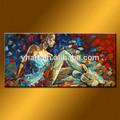 venta al por mayor imagen bailarines pintado a mano pintura al óleo sobre lienzo