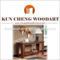 Antiguos muebles de estilo colonial/clásico de madera de la consola de mesa/plexiglás de la consola
