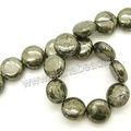 Venta al por mayor de oro cuentas de pirita semi- perlas preciosas para la venta