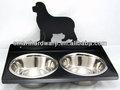 De metal comedero para perros con soporte de acero inoxidable boles/cuencos