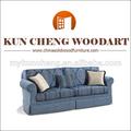 Material de la tela decorativa de madera sofás/americano sofá de madera muebles de estilo clásico