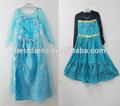 2014 caliente venta nuevo estilo niñas congelado vestido de elsa anna hermoso vestido de princesa cloting de los niños