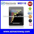 El más barato 9.7 pulgadas de doble núcleo de tablet pc, wifi, bluetooth, android 4.1