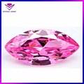 venta caliente de la forma marquesa el nombre de piedras preciosas de color rosa