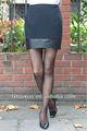 2013 nueva moda mujer corta básica de cuero mini falda corta