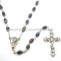 De color marrón cuentas del rosario santa cruz del rosario, jbh201401-33