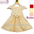 amarelo e branco vestidos de casamento de menina de vestido de moda coréia 2014 crianças fantasia flor