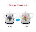 2014( changement de couleur) en porcelaine bouilloire électrique sans fil