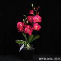 rojo nuevo estilo de la flor de la orquídea artificial al por mayor precio de fábrica