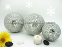 2014 nueva llegada de moda decorativa de navidad bola de cristal